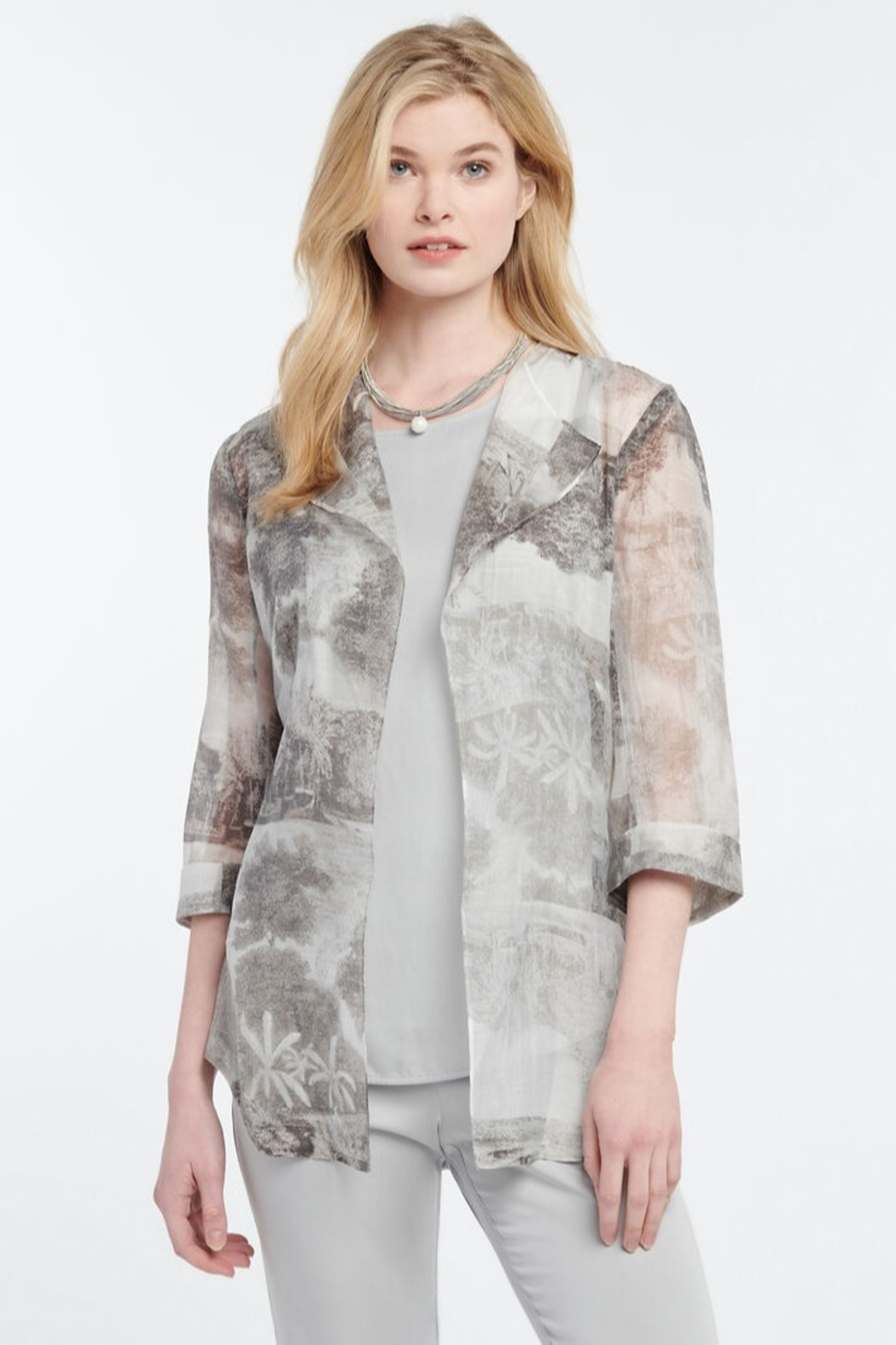 Nic + Zoe Toile Memory Cardigan - Front Cropped Image