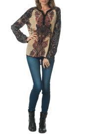 Tolani Arabesque Silk Blouse - Product Mini Image