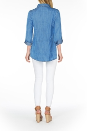 Tolani Embroidered Chambray Tunic - Front full body