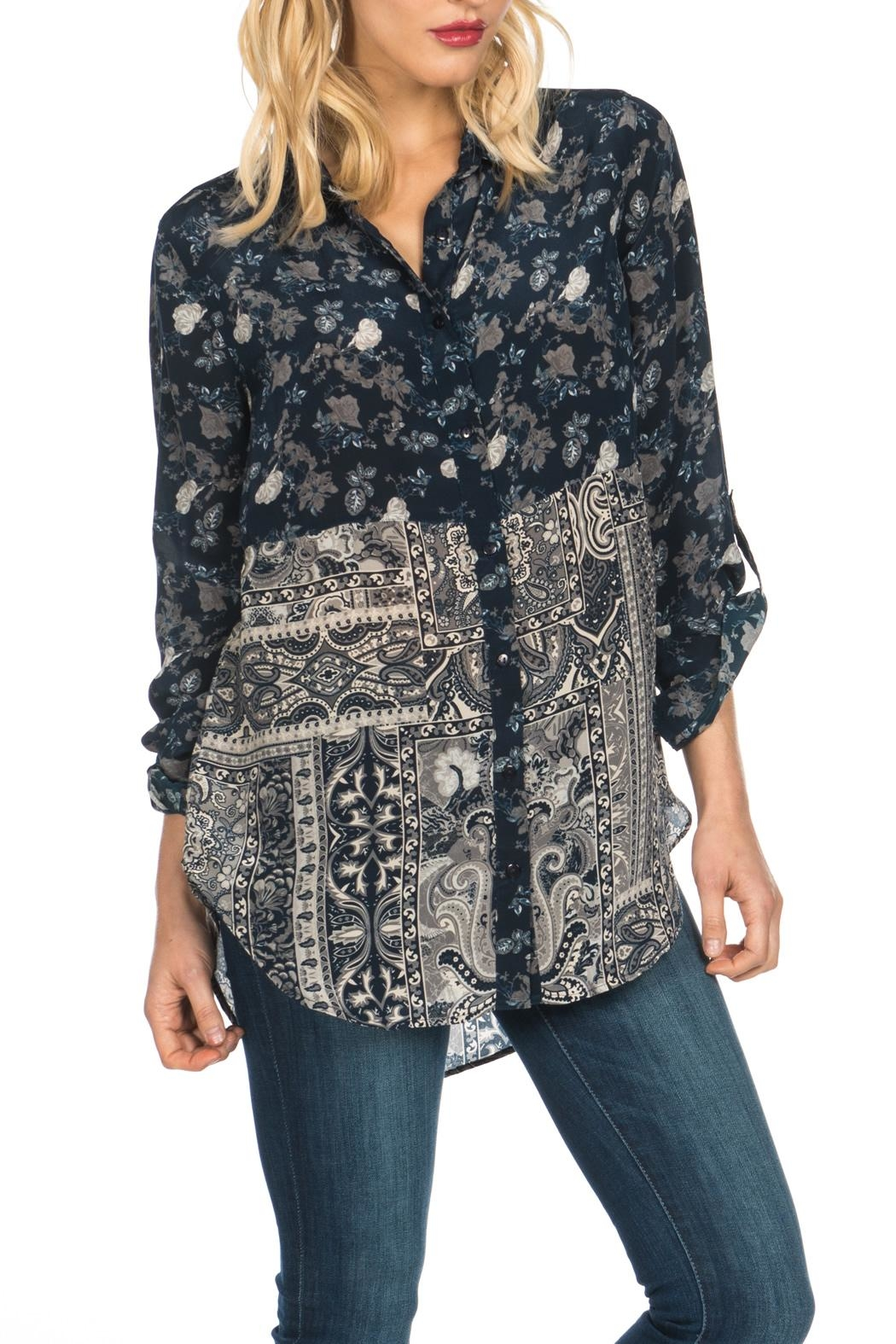 Tolani Evelyn Silk Blouse - Front Cropped Image