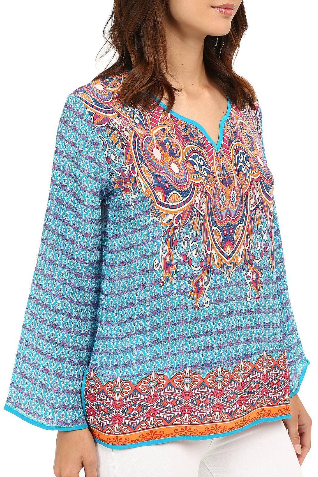 Tolani Mixed Print Blouse - Side Cropped Image