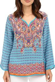 Tolani Mixed Print Blouse - Product Mini Image