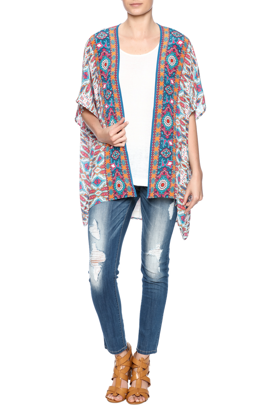 Tolani noelle print kimono from dallas by hip chic for Little hip boutique