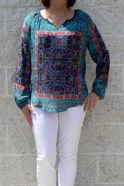 Tolani Paisley Silk Blouse - Product Mini Image