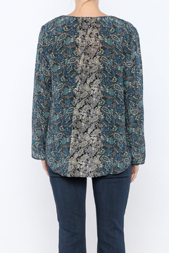 Tolani Print Silk Blouse - Alternate List Image