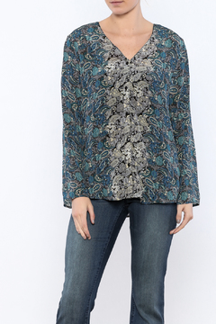 Tolani Print Silk Blouse - Product List Image