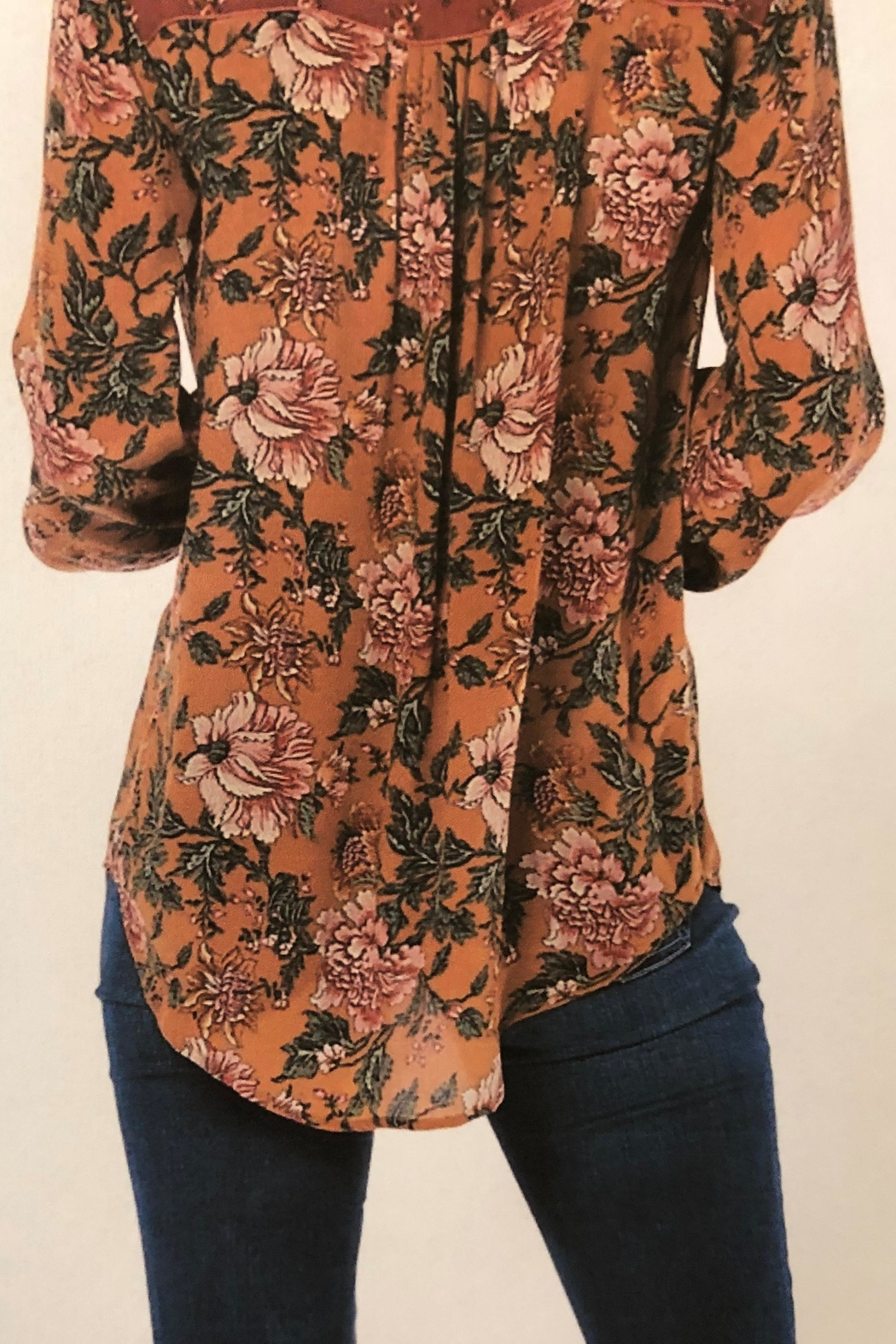 Tolani Silky Peasant Blouse - Front Full Image