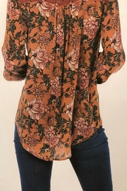 Tolani Silky Peasant Blouse - Front full body