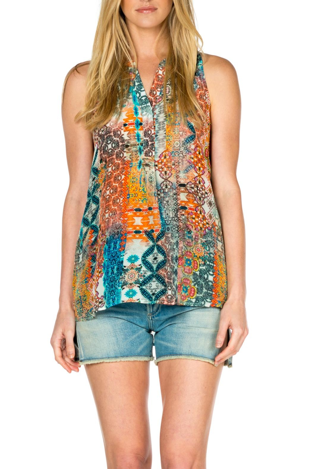 Tolani Sleeveless Silk Tank Top - Main Image