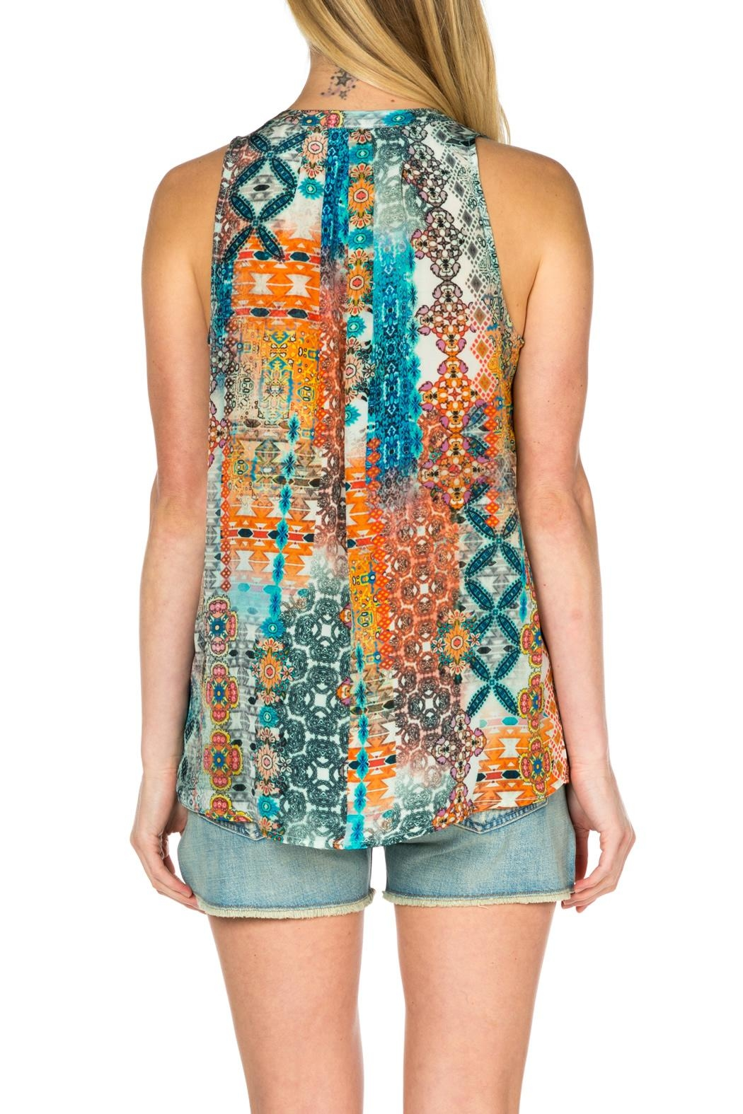 Tolani Sleeveless Silk Tank Top - Front Full Image