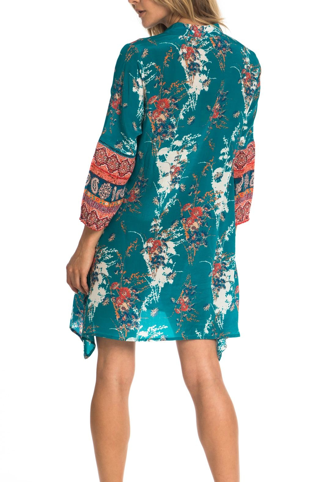 Tolani Tris Jade Tunic Dress - Front Full Image