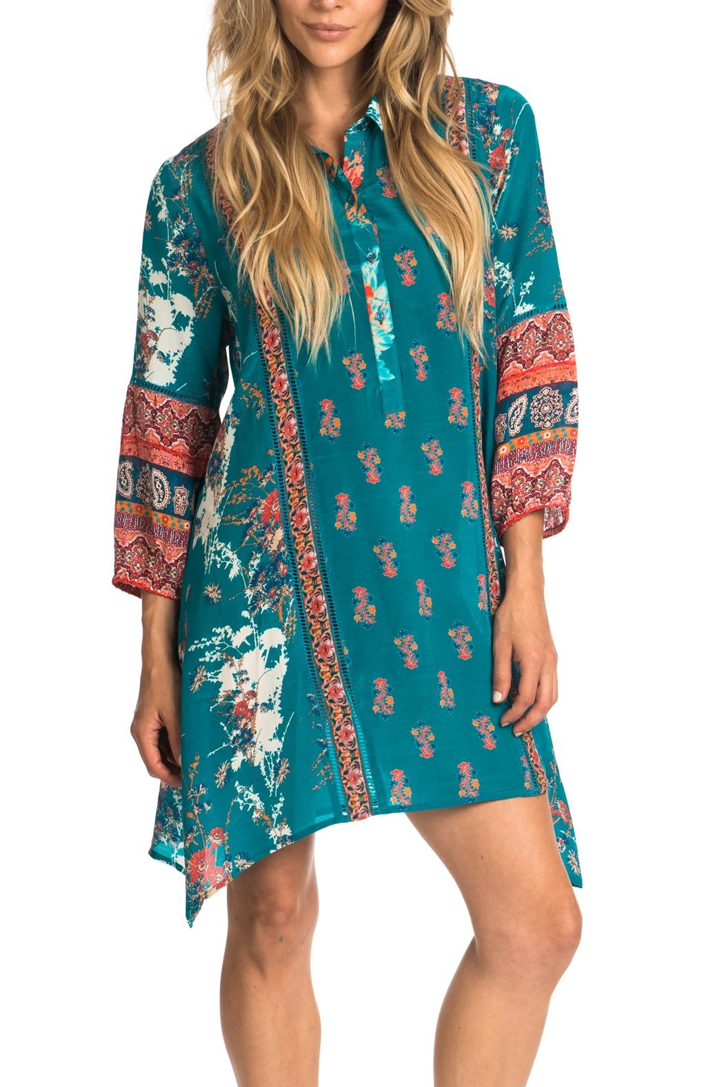 Tolani Tris Jade Tunic Dress - Main Image