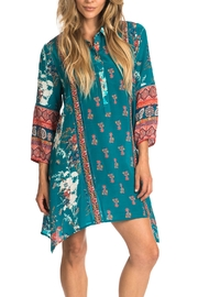 Tolani Tris Jade Tunic Dress - Front cropped