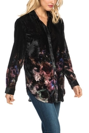 Tolani Velvet Floral Top - Product Mini Image