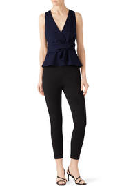 Adelyn Rae Tollie Knit Bow Top - Front cropped