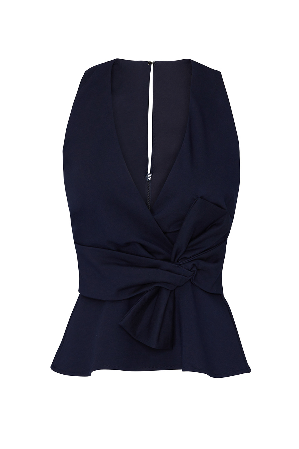Adelyn Rae Tollie Knit Bow Top - Back Cropped Image