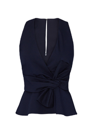 Adelyn Rae Tollie Knit Bow Top - Back cropped