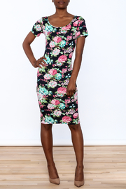 Tom's Ware Floral Georgia Bodycon Dress - Product Mini Image