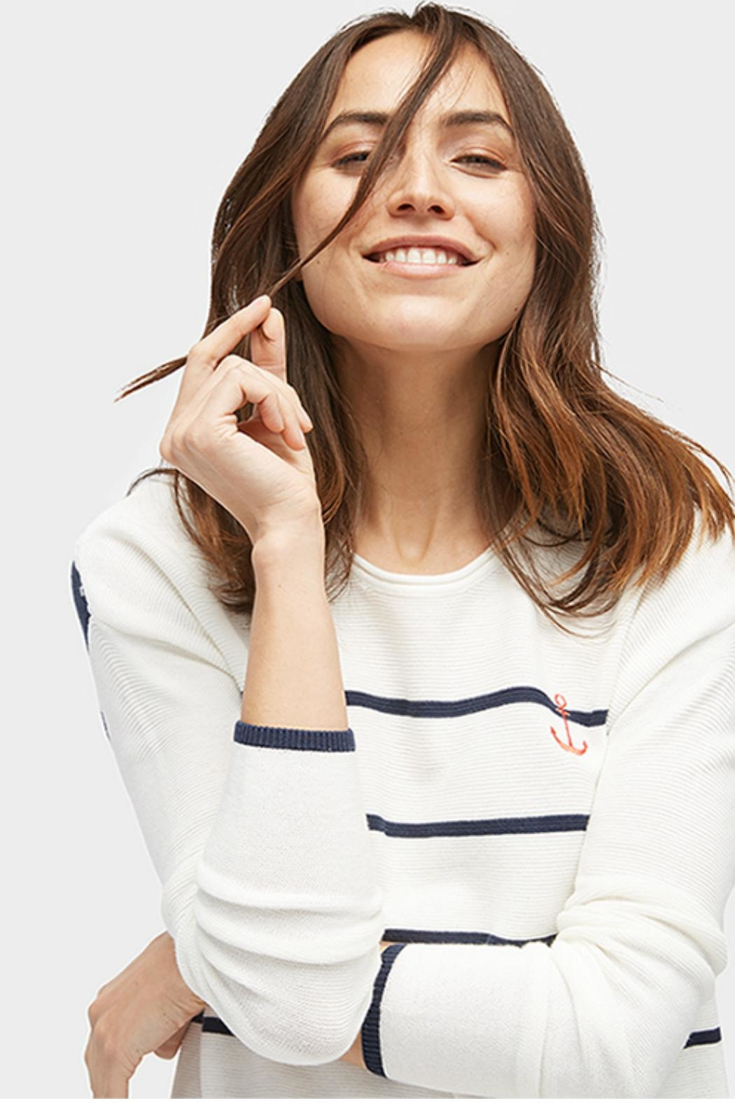 Tom Tailor Anchor Stripe Sweater - Back Cropped Image