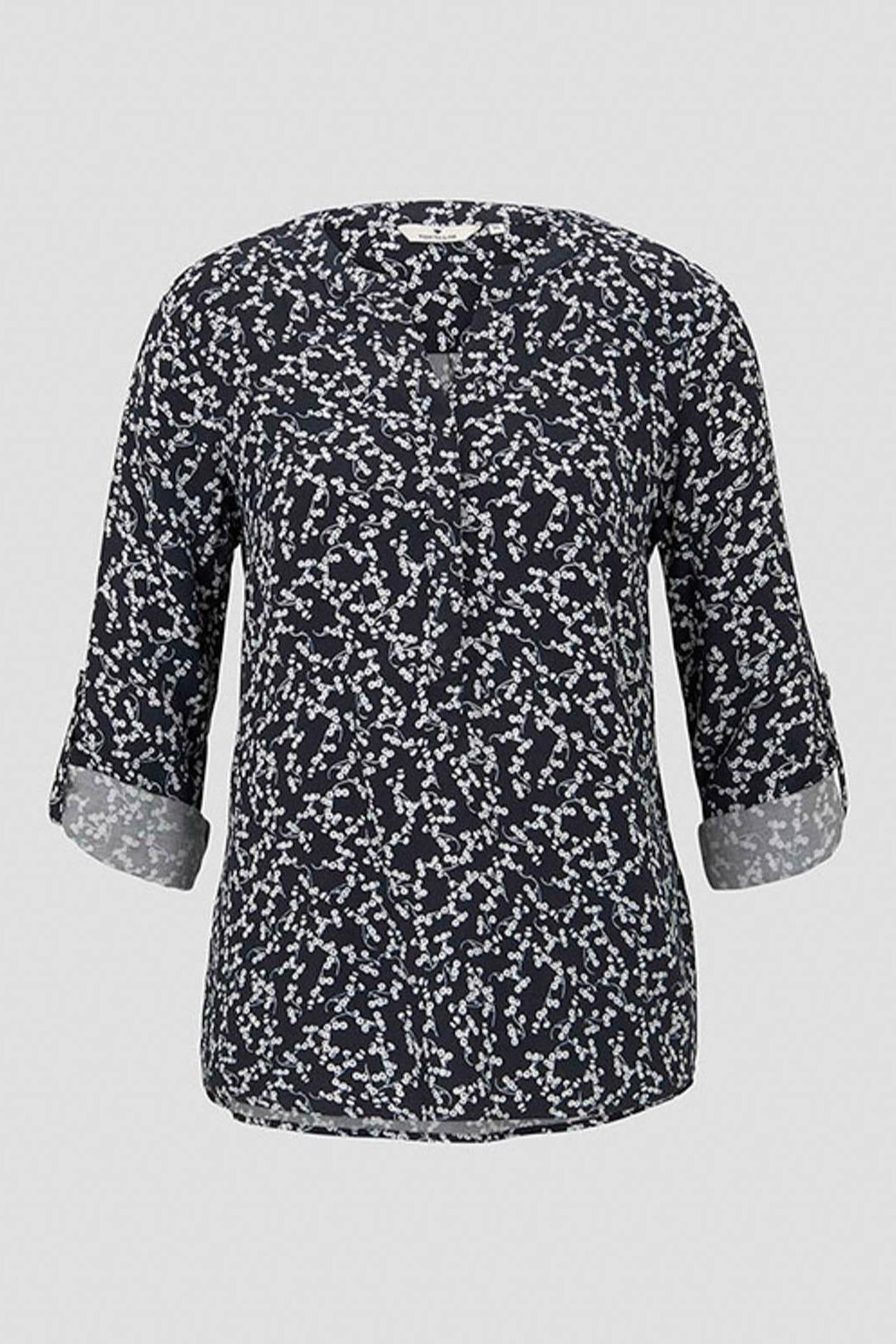 Tom Tailor Blouse With Flower Pattern - Side Cropped Image