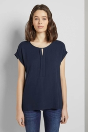 Tom Tailor Chiffon Top With Placket - Product Mini Image