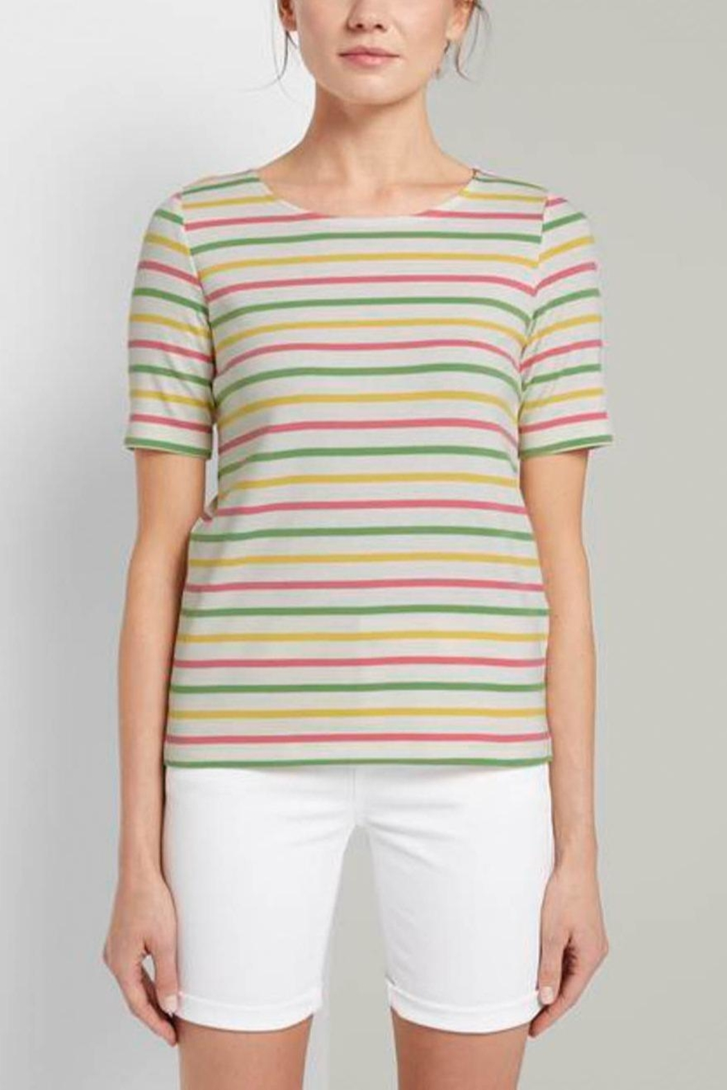 Tom Tailor Colorful T-Shirt With Stripes - Main Image