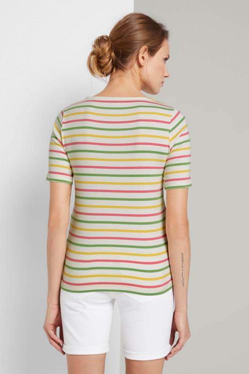 Tom Tailor Colorful T-Shirt With Stripes - Front Full Image