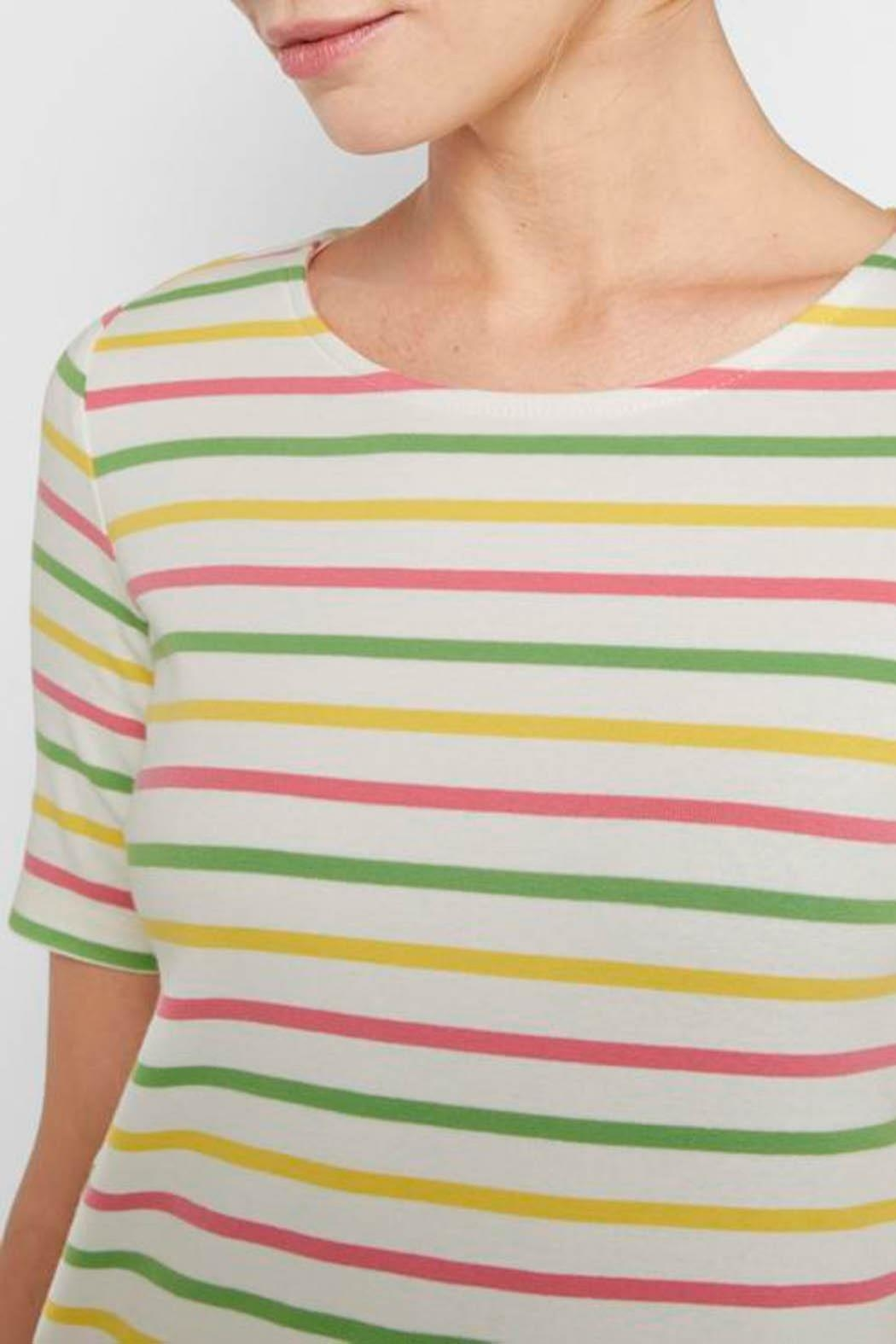 Tom Tailor Colorful T-Shirt With Stripes - Back Cropped Image