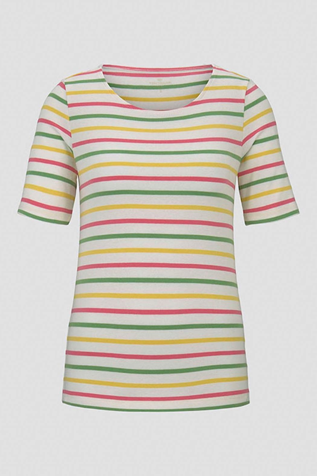 Tom Tailor Colorful T-Shirt With Stripes - Side Cropped Image