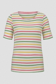 Tom Tailor Colorful T-Shirt With Stripes - Side cropped