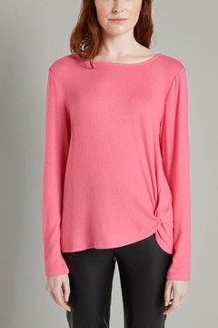 Shoptiques Product: Cozy Knit Long-Sleeved Top With Knot Details