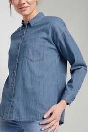 Tom Tailor Denim Blouse In A Loose Fit - Product Mini Image