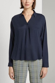 Tom Tailor Loose Blouse With A V-Neckline - Product Mini Image