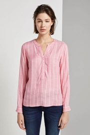 Tom Tailor Striped Henley Blouse - Front cropped