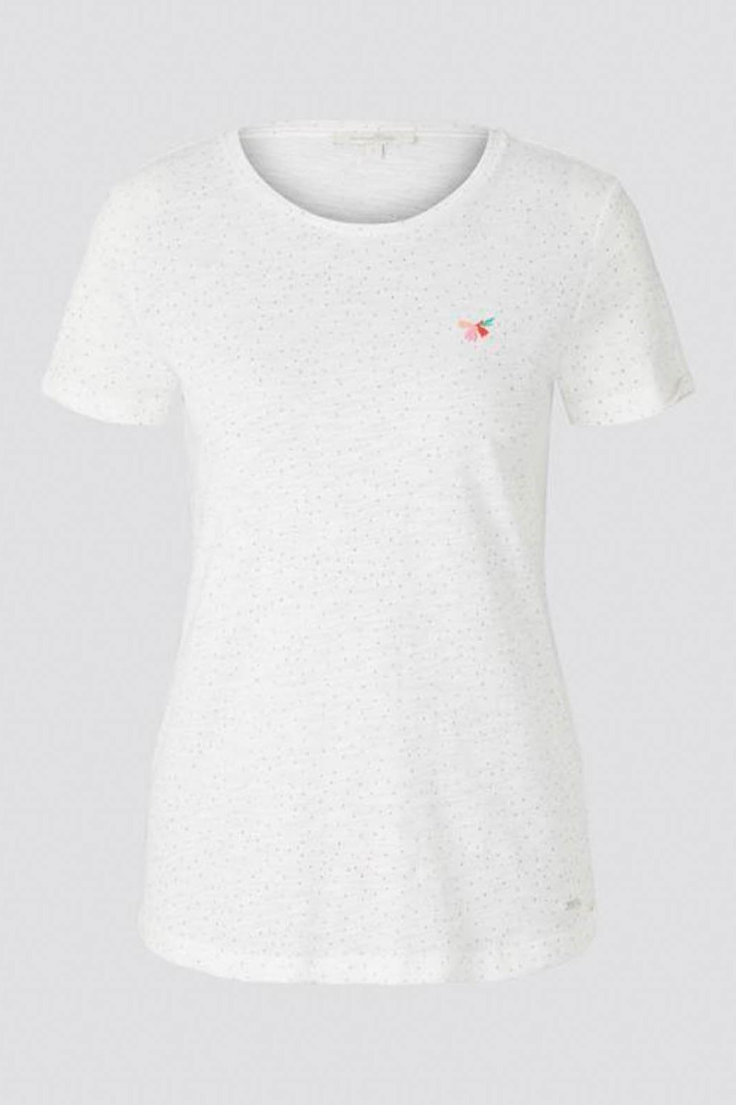 Tom Tailor T-Shirt With Small Embroidery - Side Cropped Image
