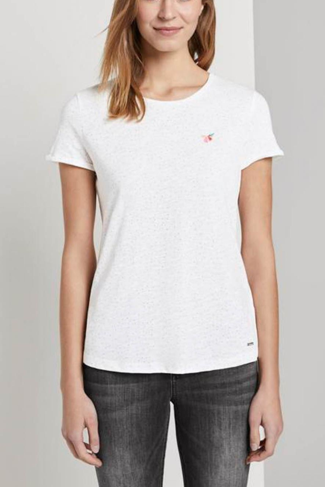 Tom Tailor T-Shirt With Small Embroidery - Main Image