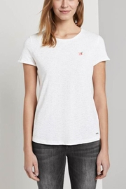 Tom Tailor T-Shirt With Small Embroidery - Product Mini Image