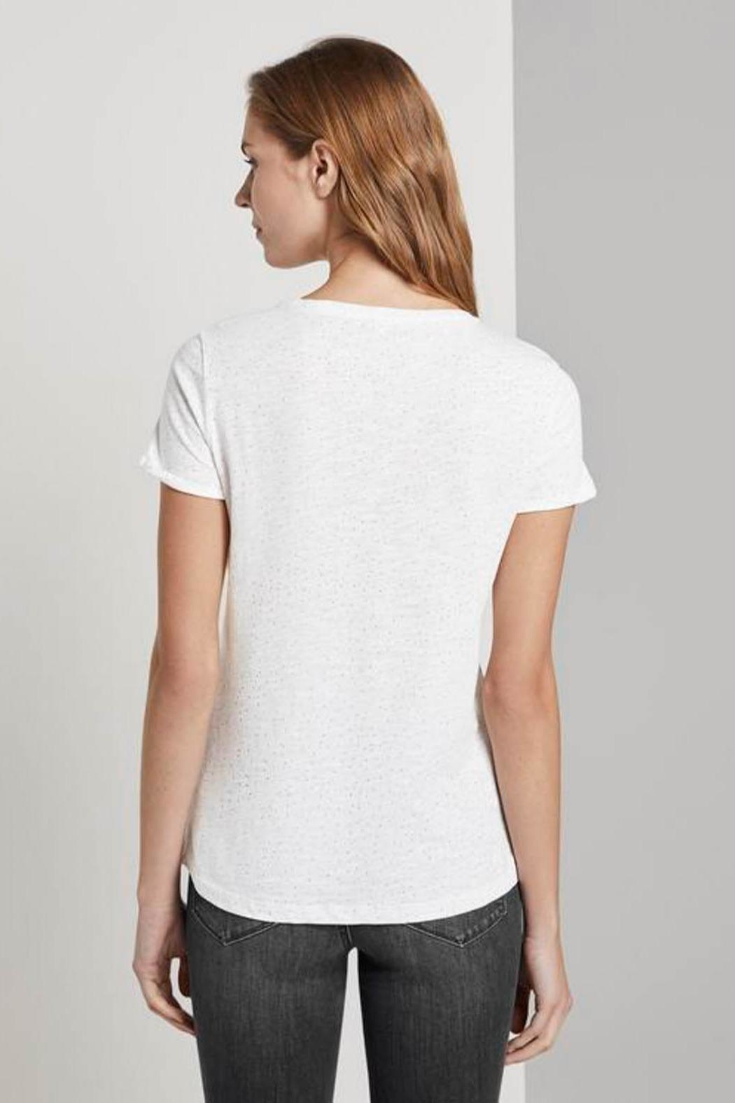 Tom Tailor T-Shirt With Small Embroidery - Front Full Image