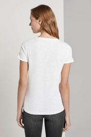Tom Tailor T-Shirt With Small Embroidery - Front full body