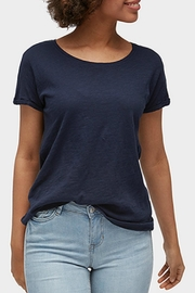 Tom Tailor Denim Navy Slub T-Shirt - Product Mini Image
