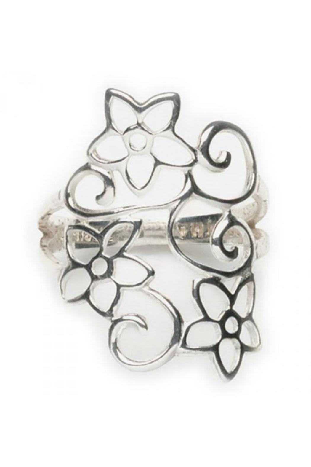 Tomas Flower Swirl Ring - Front Cropped Image