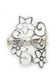 Tomas Flower Swirl Ring - Product Mini Image