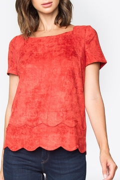 Sugar Lips Tomato Suede Top - Product List Image