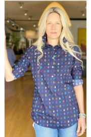 Ann Mashburn Tomboy Popover Shirt Beetle - Front cropped