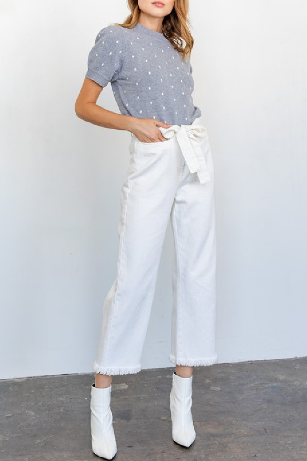Gilli Tomi Wide Leg Jeans - Main Image
