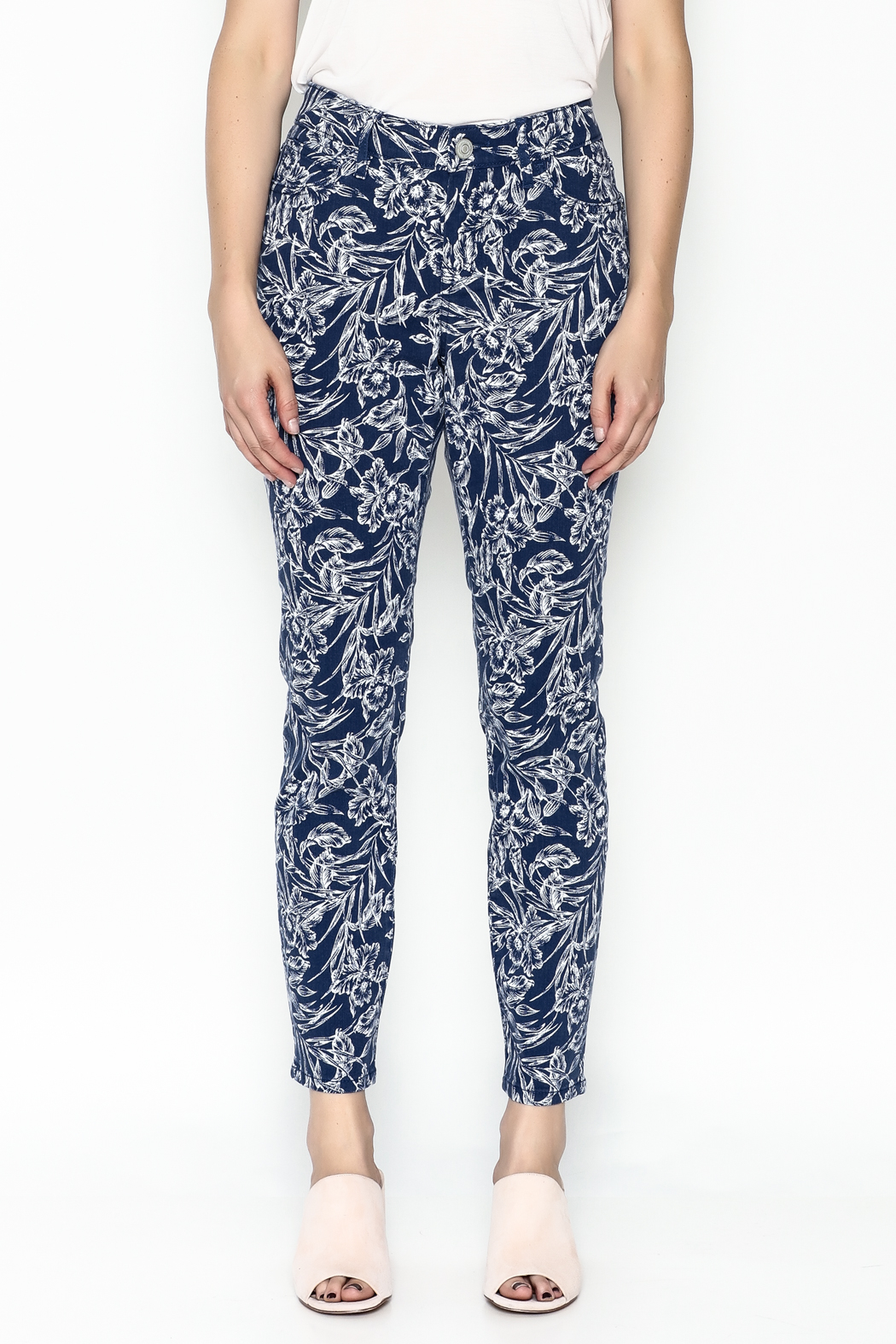 Tommy Bahama Hibiscus Print Jeans - Front Full Image