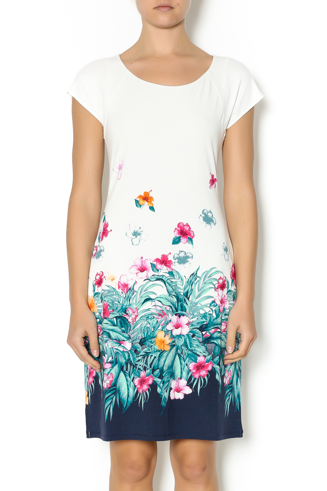 Tommy bahama ivory floral dress from florida by adventures for Tommy bahama florida shirt