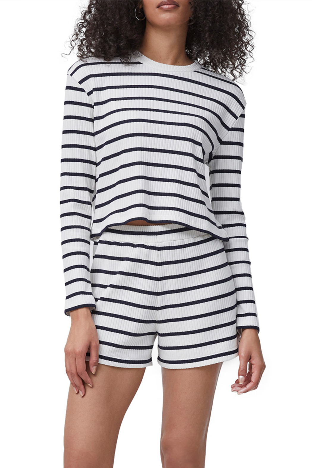French Connection Tommy Rib Long Sleeve Top - Main Image