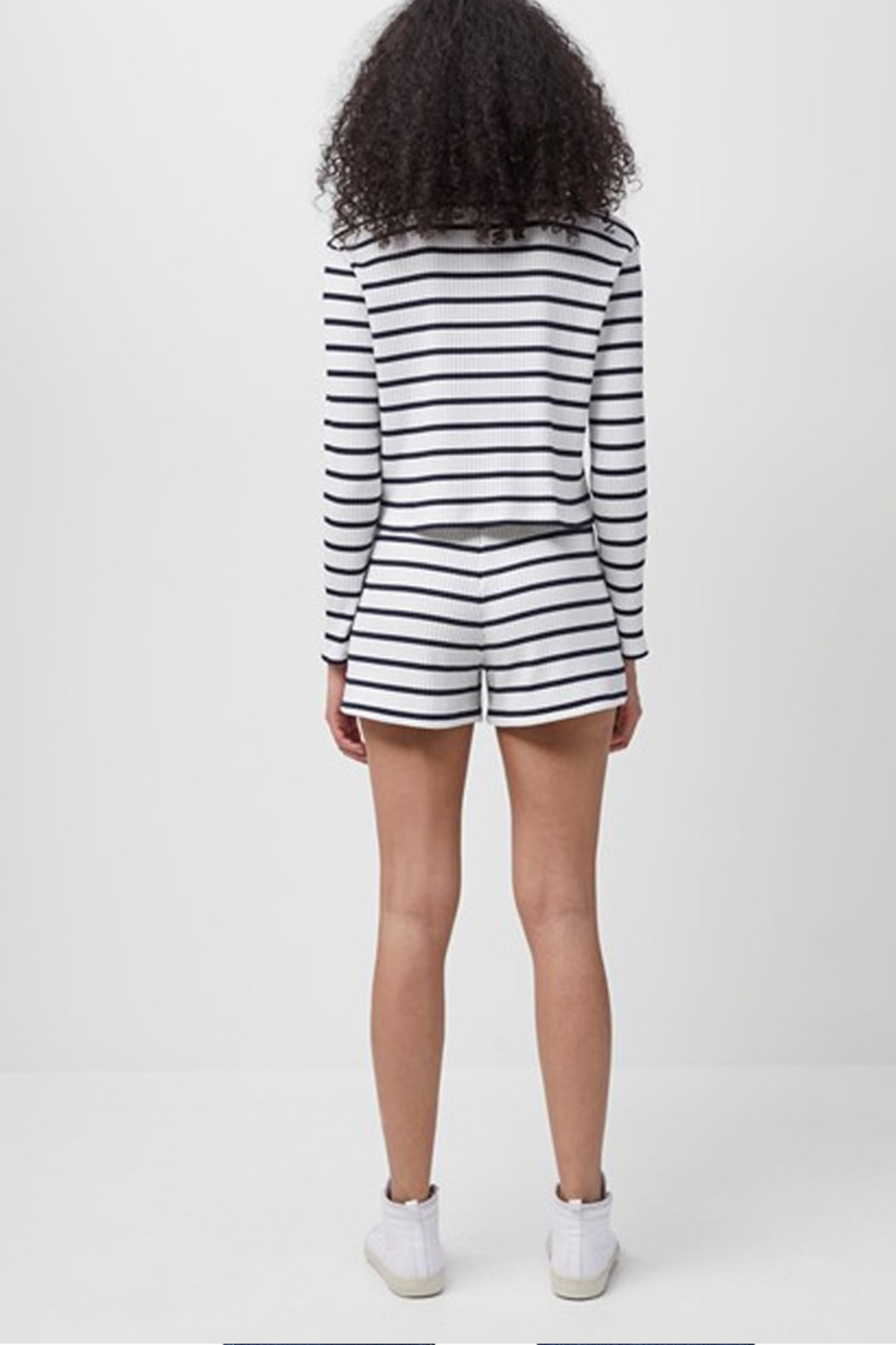 French Connection Tommy Rib Stripe Shorts - Back Cropped Image