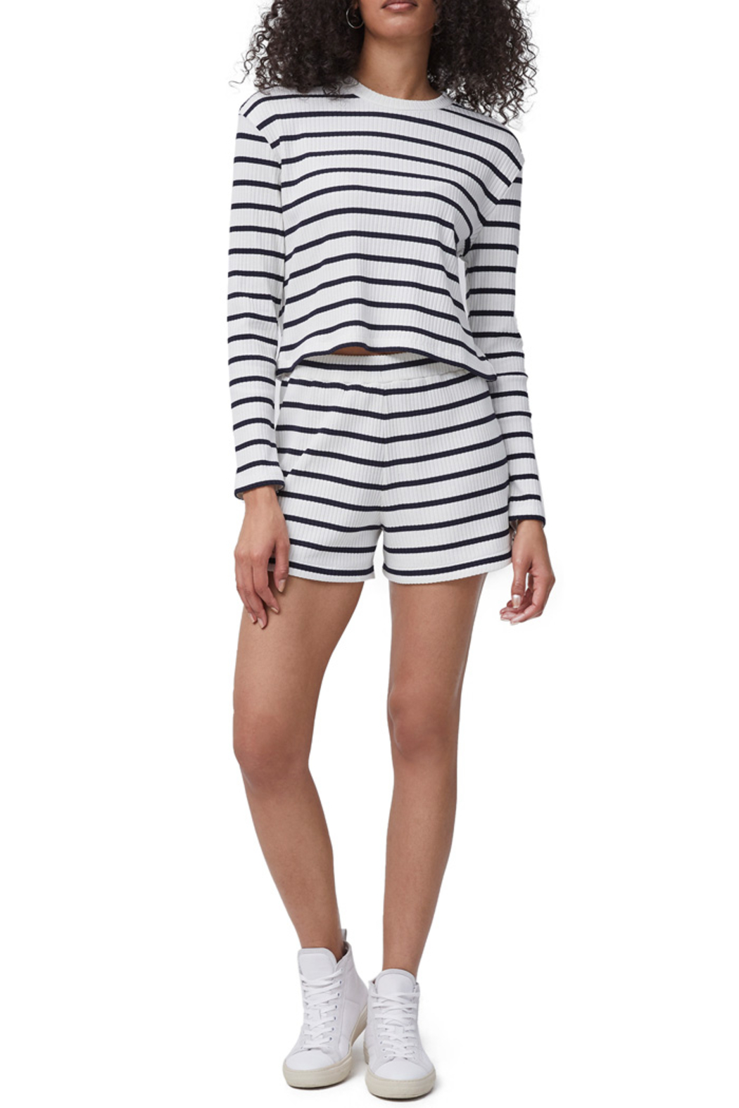French Connection Tommy Rib Stripe Shorts - Side Cropped Image